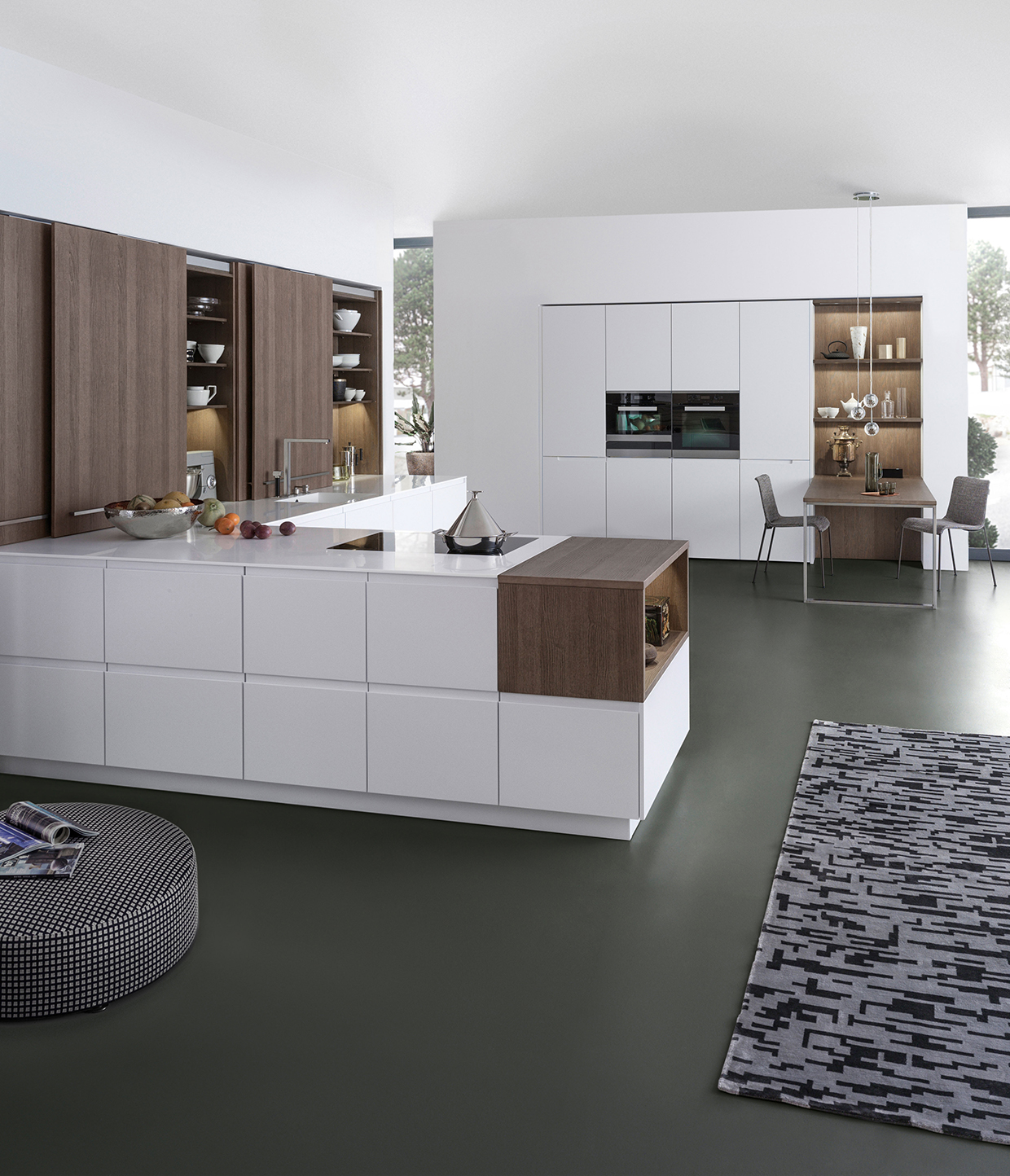 auch die optik z hlt trend zu materialkombinationen amk arbeitsgemeinschaft die moderne. Black Bedroom Furniture Sets. Home Design Ideas